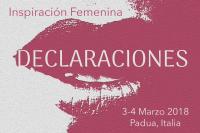 INSPIRACIÓN FEMENINA -DECLARACIONES-